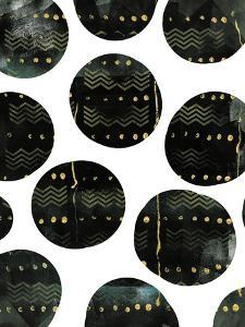 Black and Gold Circles by Summer Tali Hilty