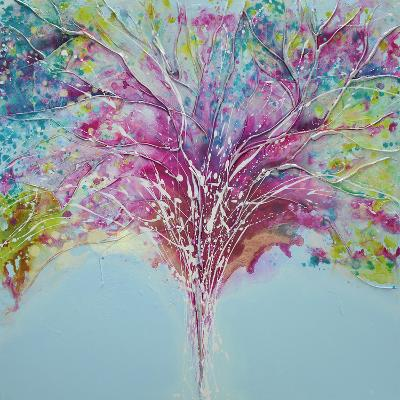Summer Tree Lights-Caroline Ashwood-Giclee Print