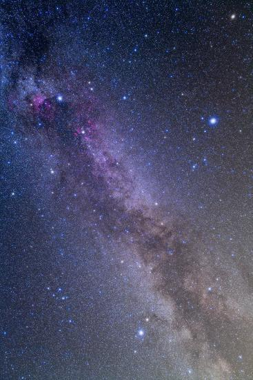 Summer Triangle Area of the Northern Summer Milky Way--Photographic Print