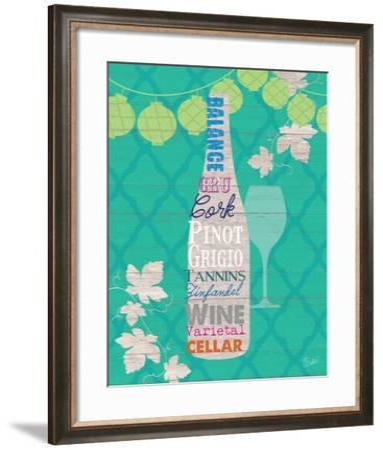 Summer Wine Celebration IV-Studio Bella-Framed Premium Giclee Print