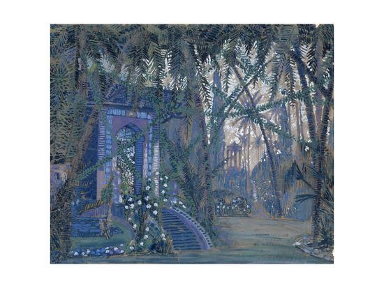 Summerhouse in the Park, 1910-Alexey Alexandrovich Utkin-Giclee Print