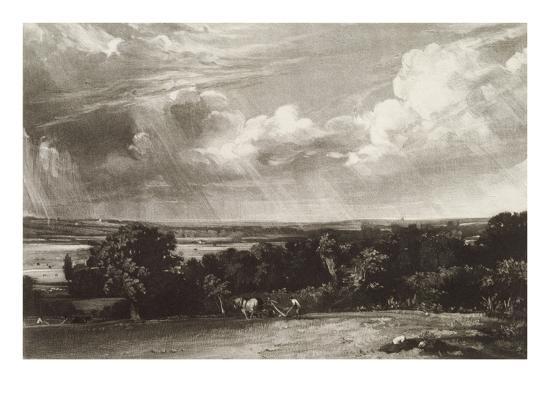 Summerland, Engraved by David Lucas (1802-81) (Mezzotint)-John Constable-Giclee Print