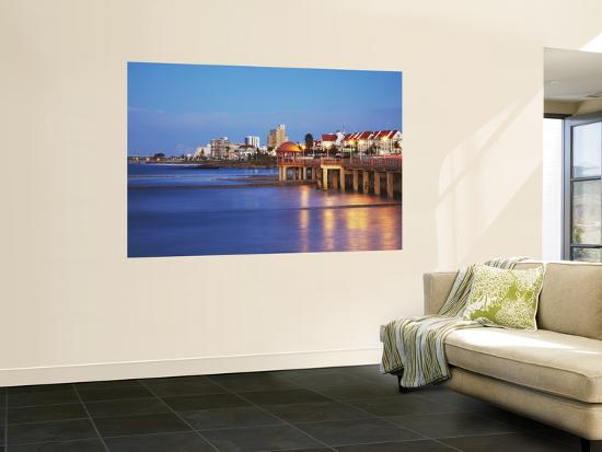 Summerstrand Beachfront at Dusk, Port Elizabeth, Eastern Cape, South Africa-Ian Trower-Wall Mural