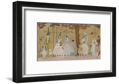 Summertime Fashions for Women and Girls by Paquin Doucet-Georges Barbier-Framed Giclee Print