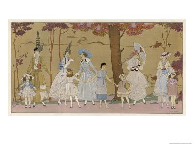 Summertime Fashions for Women and Girls by Paquin Doucet-Georges Barbier-Giclee Print
