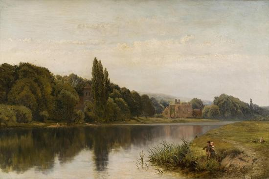 Summertime on the Thames, Bisham Church and Abbey, C.1875-John Surtees-Giclee Print