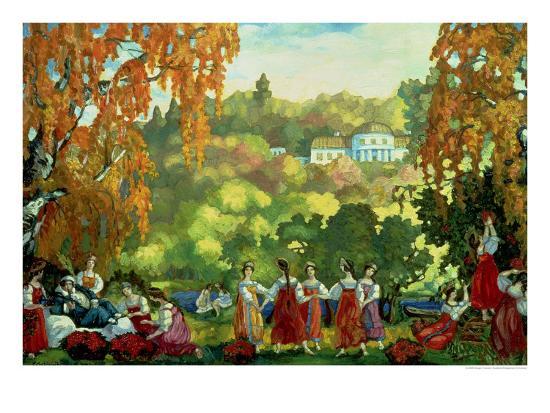 Summery Days in Early Autumn, 1916-Sergei Yurevich Sudeikin-Giclee Print