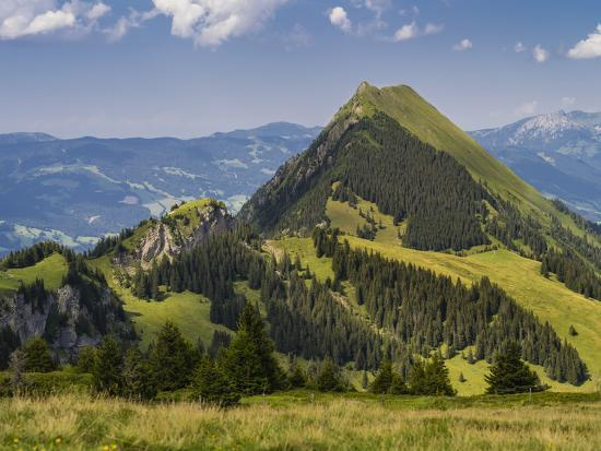 Summery mountain landscape in the Bernese Oberland-enricocacciafotografie-Photographic Print