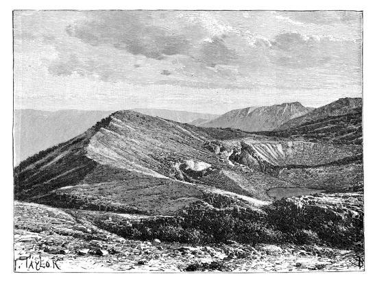 Summit of Mount Irazu, Costa Rica, C1890--Giclee Print