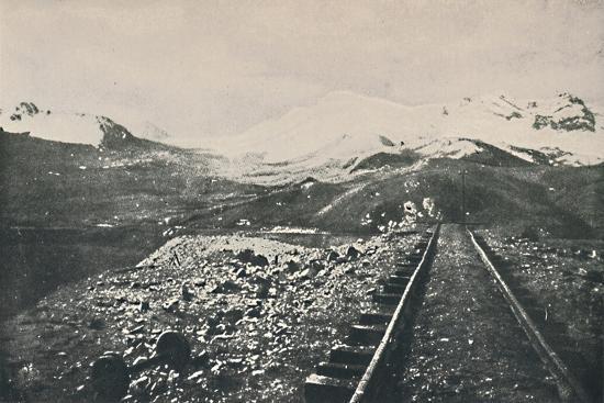 'Summit of the Oroya Railway', 1916-Unknown-Giclee Print