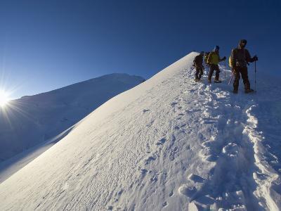 Summit Ridge of Mont Blanc at 4810M, Chamonix, French Alps, France, Europe-Christian Kober-Photographic Print