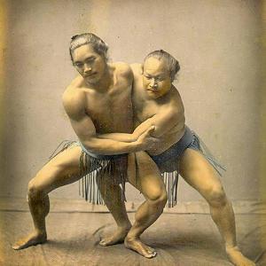 Sumo Wrestlers, C.1880