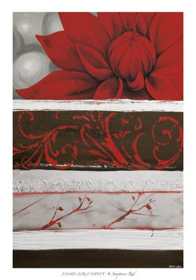 Sumptuous Red-Jasmine Zara Copley-Art Print