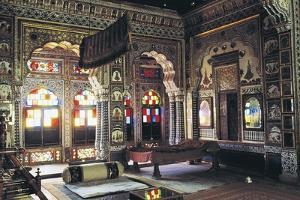Sumptuous Room of Mehrangarh Fort, Jodhpur, Rajasthan, India