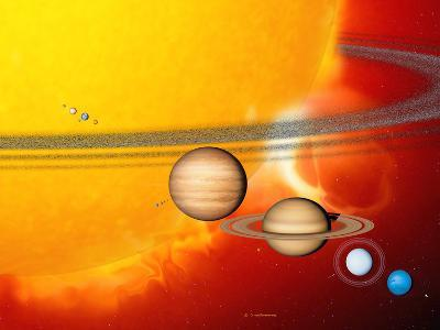 Sun And Its Planets-Detlev Van Ravenswaay-Photographic Print