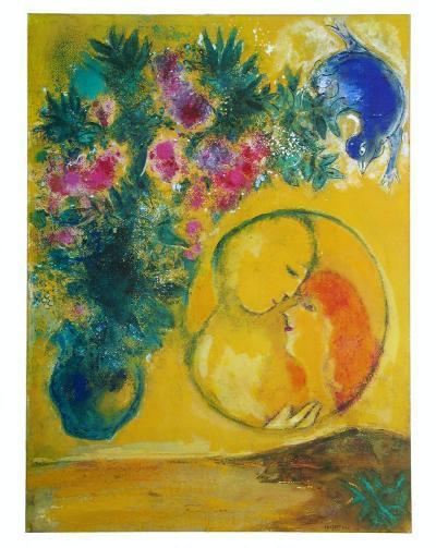 Sun and Mimosas-Marc Chagall-Art Print