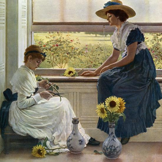 Sun and Moon Flowers, 1890-George Dunlop Leslie-Giclee Print