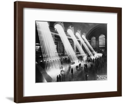 Sun Beams into Grand Central Station-Hal Morey-Framed Photographic Print