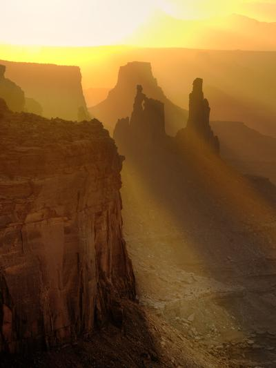 Sun Beams on the Mesa-Daniel Cummins-Photographic Print