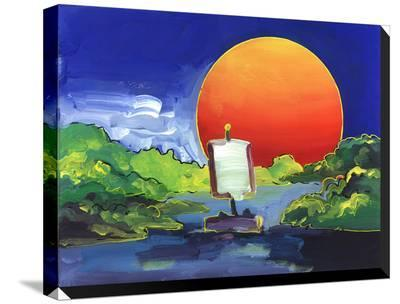Sun Boat-Howie Green-Stretched Canvas Print