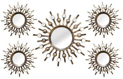 Sun Burst Mirrors - 5 Piece Set