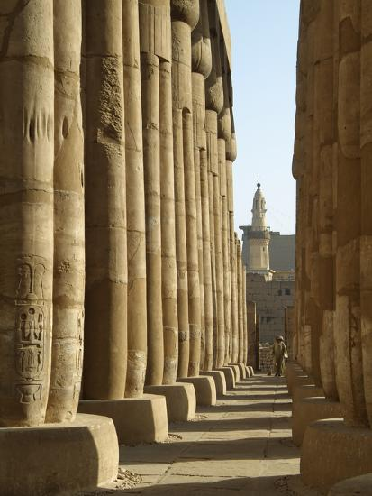 Sun Court of Amenhotep III, Luxor Temple, Luxor, Egypt-Gary Cook-Photographic Print