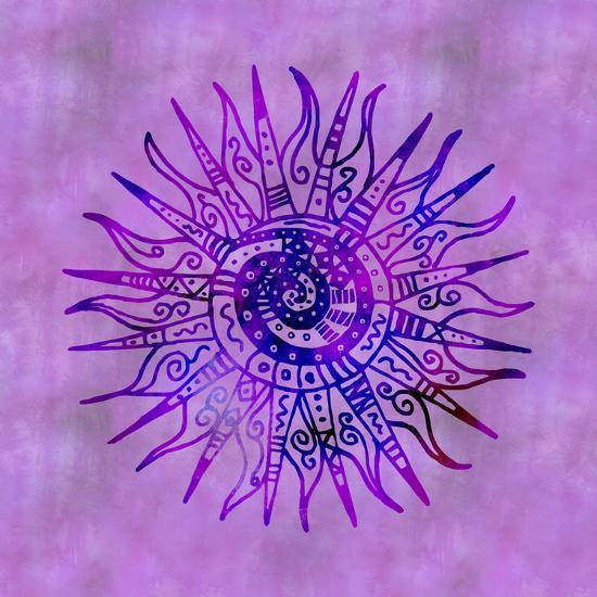 Sun Doodle Purple - Square-Lebens Art-Giclee Print