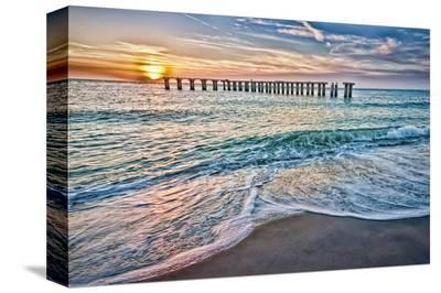 Sun Down-Mary Lou Johnson-Stretched Canvas Print