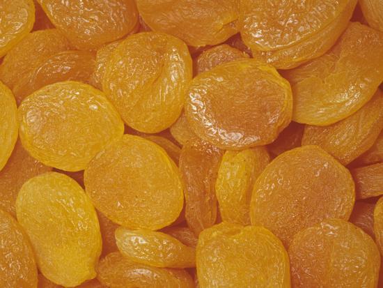 Sun-Dried Apricots (Prunus Armeniaca), Native to China-Ken Lucas-Photographic Print