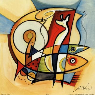 Sun Fish II-Alfred Gockel-Art Print