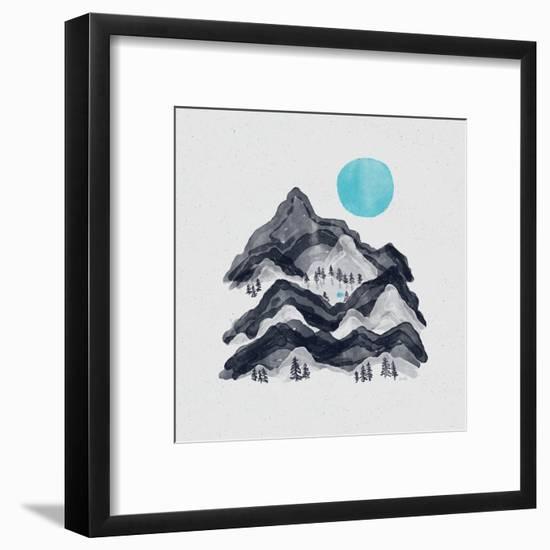 Sun In Moon Lake-NDTank-Framed Art Print