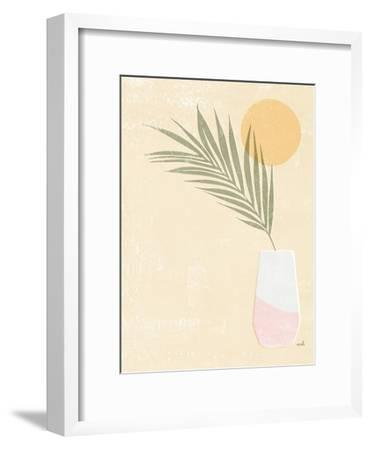 Sun Palm II Blush-Moira Hershey-Framed Art Print