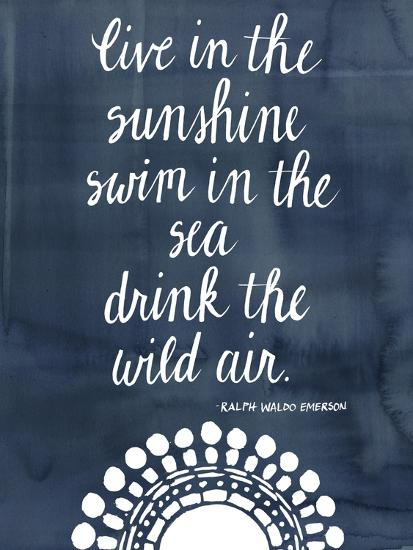 Sun Quote I-Grace Popp-Art Print