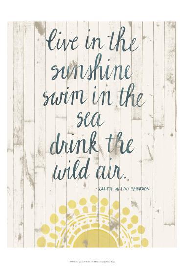 Sun Quote IV-Grace Popp-Art Print