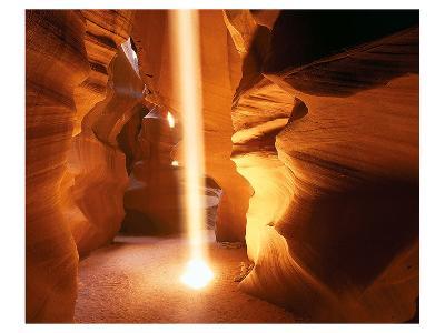 Sun Ray In Antelope Canyon--Art Print