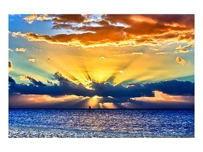 Sun Rays Sunrise-Toni Vaughan-Art Print