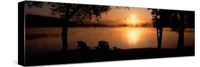 Sun Rising over Lake Placid, New York