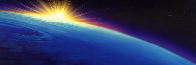 Sun Rising over the Earth--Photographic Print