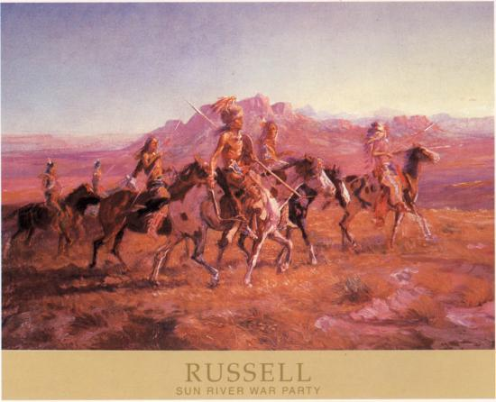 Sun River War Party-Charles Marion Russel-Art Print