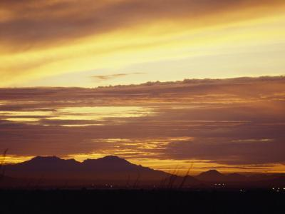 Sun Sets Behind Mountains in Arizona-xPacifica-Photographic Print