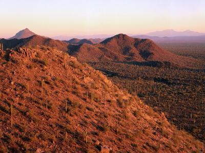 Sun Sets over Tucson Mountains-Jeff Foott-Photographic Print