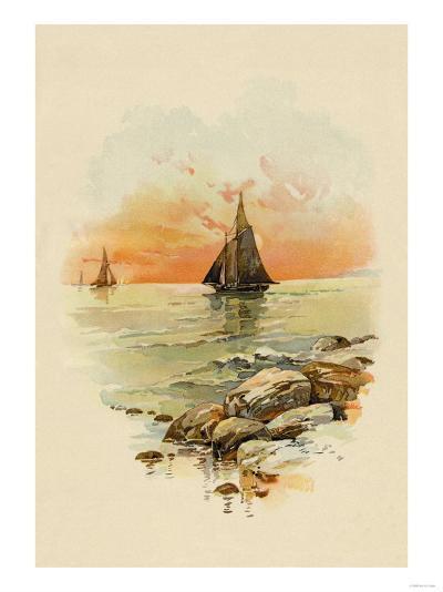 Sun Sets--Art Print
