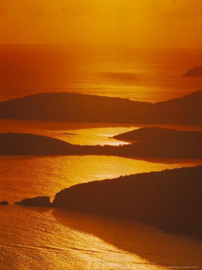 Sun Setting Over Harbor, St. Thomas, VI-Jim Schwabel-Photographic Print