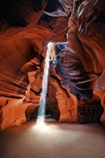 Sun Shining Through Canyon III-David Drost-Photographic Print