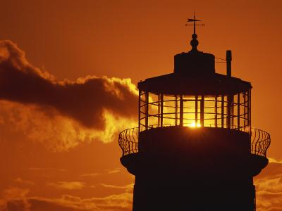 Sun Shining Through Lantern Room of Belle Tout, Beachy Head, Sussex, England, UK-Ian Griffiths-Photographic Print