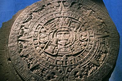 Sun Stone or Aztec Calendar Stone, Found in Tenochtitlan in 1789, Mexico--Giclee Print
