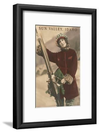 Sun Valley, Idaho, Lady Skier with Leopard Cuffs