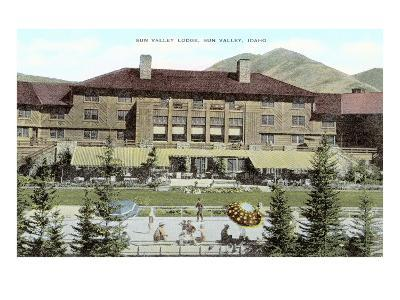Sun Valley, Idaho, Resort Lodge--Art Print