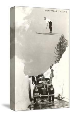 Sun Valley, Idaho, Ski Jumper Over Car