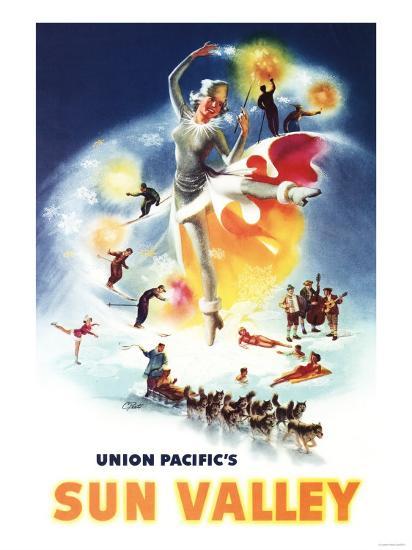 Sun Valley, Idaho - Sonja Henje Montage of Sun Valley Poster-Lantern Press-Art Print